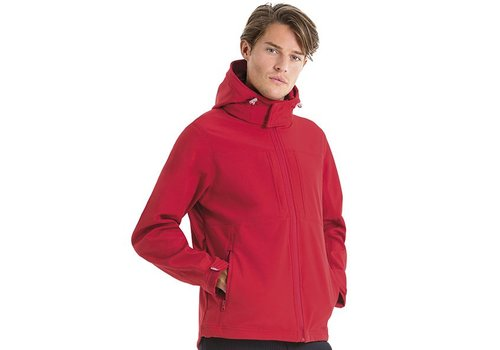 B & C Collection Hooded Softshell Men