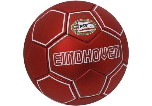 PSV Bal psv leer groot rood metallic (1001020008)