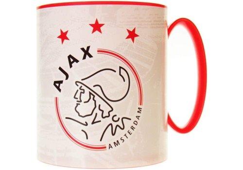 Ajax  Mok plastic ajax wit met rood logo