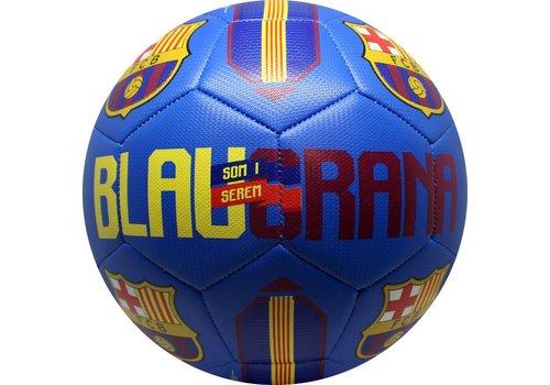FC Barcelona Bal barcelona leer groot blauw blauwgrana (110618)