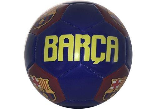FC Barcelona Bal barcelona leer groot blauw logo`s (110359)