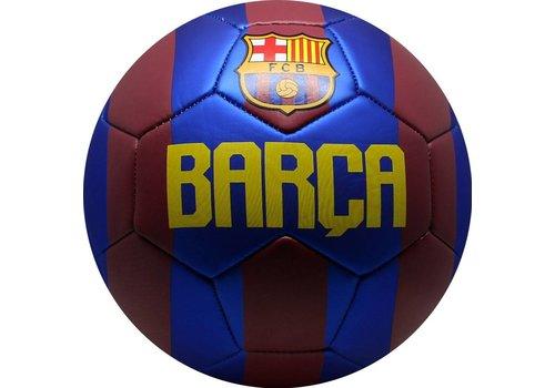 FC Barcelona Bal barcelona leer groot rood/blauw metallic (109678)
