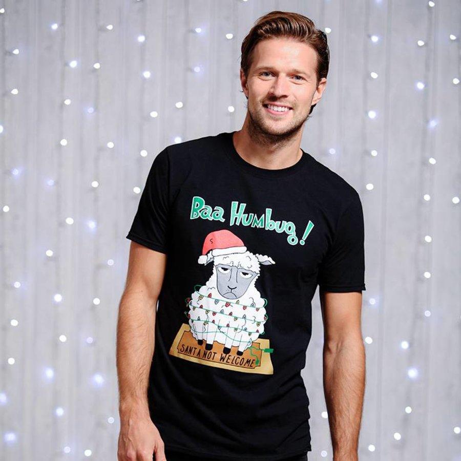 Kerst T shirt met leuke print