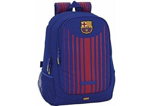 Rugzak barcelona rood/blauw stripes: 43x32x16 cm (611729665)
