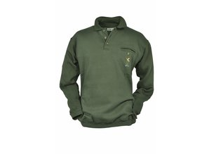 Hubertus Hunting sweat shirt met polokraag