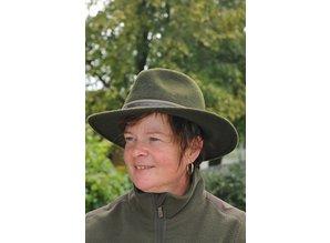 skogen wollen hoed met sierband jachthond