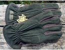 skogen handschoenen fleece en nubuck leder