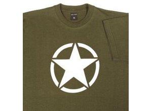 t-shirt white star