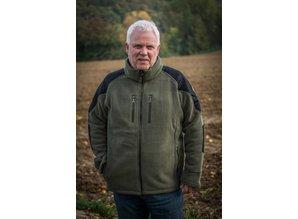 Hubertus Hunting gemêleerd fleece vest met soft shell