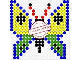 Kralenplank Vlinder 7