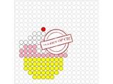 Kralenplank Cupcake