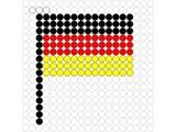 Kralenplank Vlag Duitsland