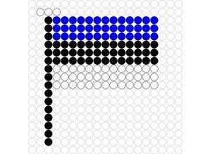 Kralenplank Vlag Estland