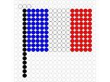 Kralenplank Vlag Frankrijk