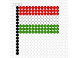 Kralenplank Vlag Hongarije