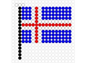Kralenplank Vlag IJsland