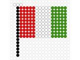 Kralenplank Vlag Italië