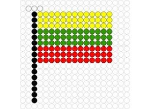 Kralenplank Vlag Litouwen