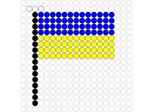 Kralenplank Vlag Oekraine