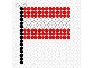 Kralenplank Vlag Oostenrijk