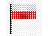 Kralenplank Vlag Polen
