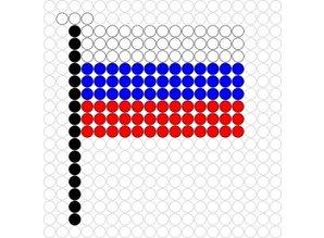 Kralenplank Vlag Rusland