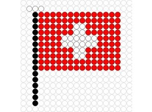 Kralenplank Vlag Zwitserland