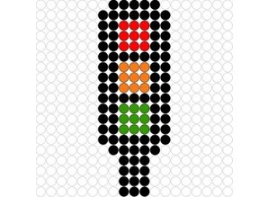 Kralenplank Stoplicht 1