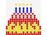 Kralenplank Verjaardagstaart 1