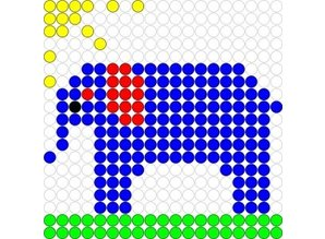 Kralenplank Olifant 2