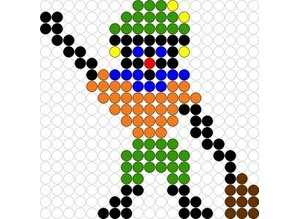 Kralenplank Zwarte Piet 3