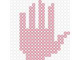 Kralenplank Hand