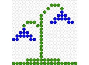 Kralenplank Blauwe klokjes