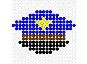 Kralenplank Politiepet 2