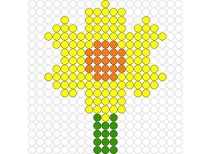 Kralenplank Narcis
