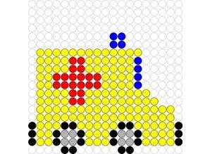 Kralenplank Ambulance 2