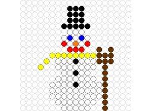 Kralenplank Sneeuwpop 1