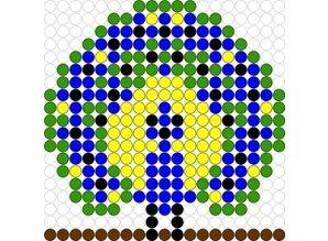 Kralenplank Pauw