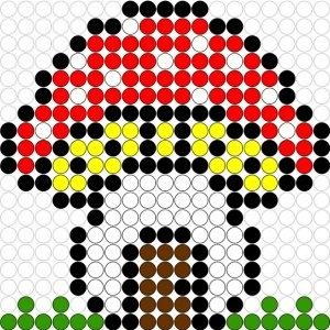 Kralenplank Paddestoel 1 Kralenplankjes Nl