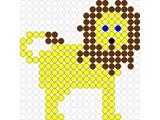 Kralenplank Leeuw