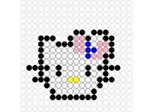 Kralenplank Hello Kitty