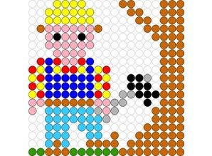 Kralenplank Bob de Bouwer 1