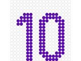 Kralenplank Cijfer 10