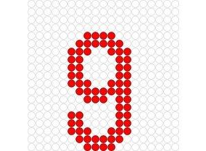 Kralenplank Cijfer 9