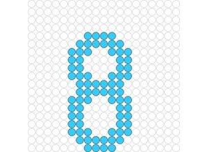 Kralenplank Cijfer 8