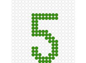 Kralenplank Cijfer 5
