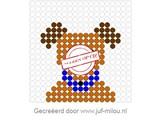 Kralenplank Hondenkop 1