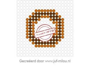 Kralenplank Donut chocolade