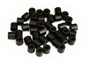 Cilinderkralen ZWART 50 stuks
