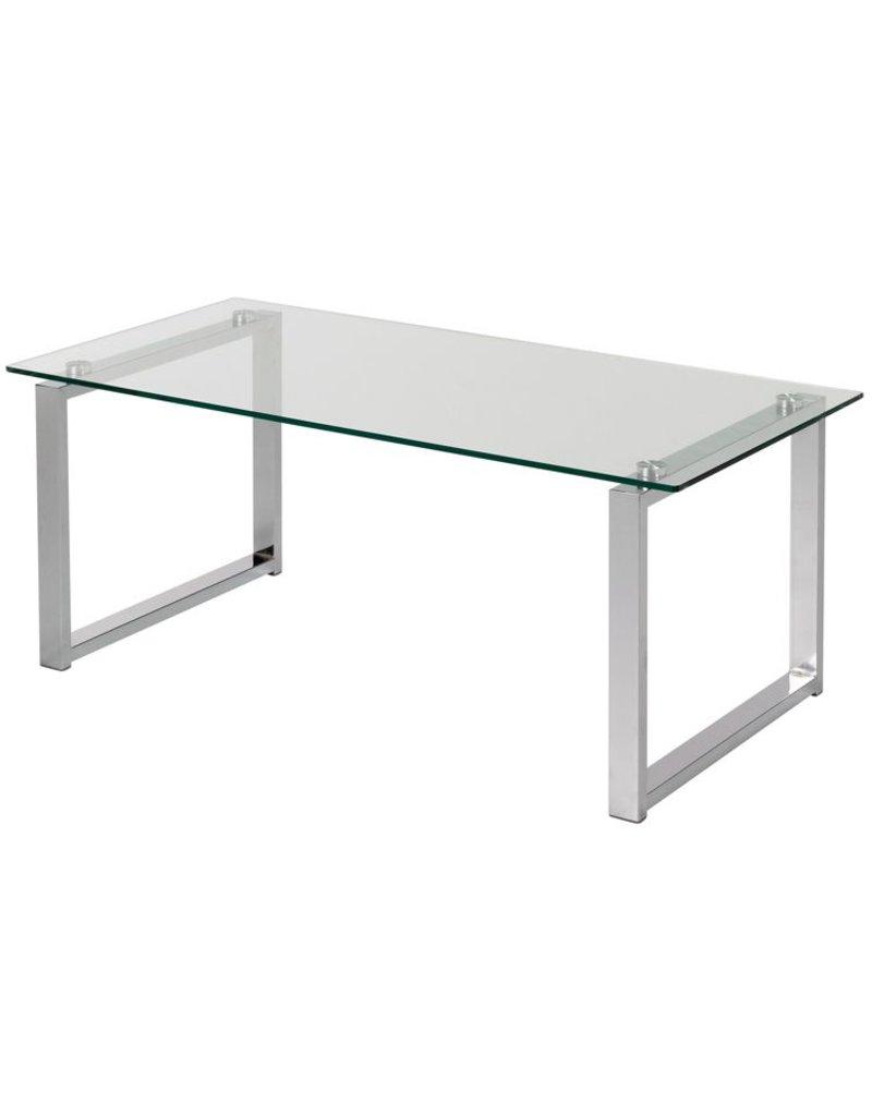 Glazen salontafel 100 x 50 x 40 cm osby kantoormeubelen for Bureau 70 x 50